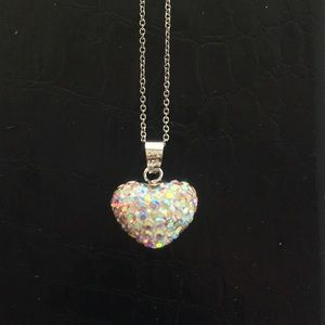 NWT Sterling Silver Heart Pendant Necklace